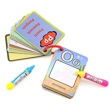 Воды флэш-карты Алфавит/номер Форма Цвет версия раннее образование игрушка