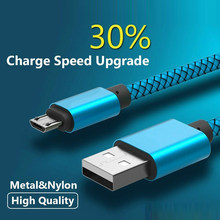 1M Nylon Micro USB Charger Cable for Chuwi VL8 for DOOGEE X10 X30 , Mix , Shoot 2 1, X9 Mini , T5S Data & Sync Charging Cables(China)