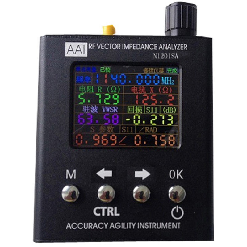 2017 English verison N1201SA 140MHz-2.7GHz UV RF Vector Impedance ANT SWR Antenna Analyzer Meter Tester vna 1m 3ghz vector network analyzer minivna tiny vhf uhf nfc rfid rf antenna analyzer signal generator swr s parameter smith