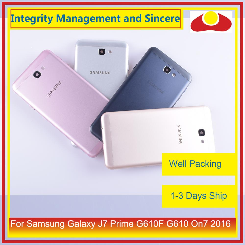 10Pcs/lot For Samsung Galaxy J7 Prime G610F G610 On7 2016 Housing Battery Door Frame Back Cover Case Chassis Shell-in Mobile Phone Housings & Frames from Cellphones & Telecommunications