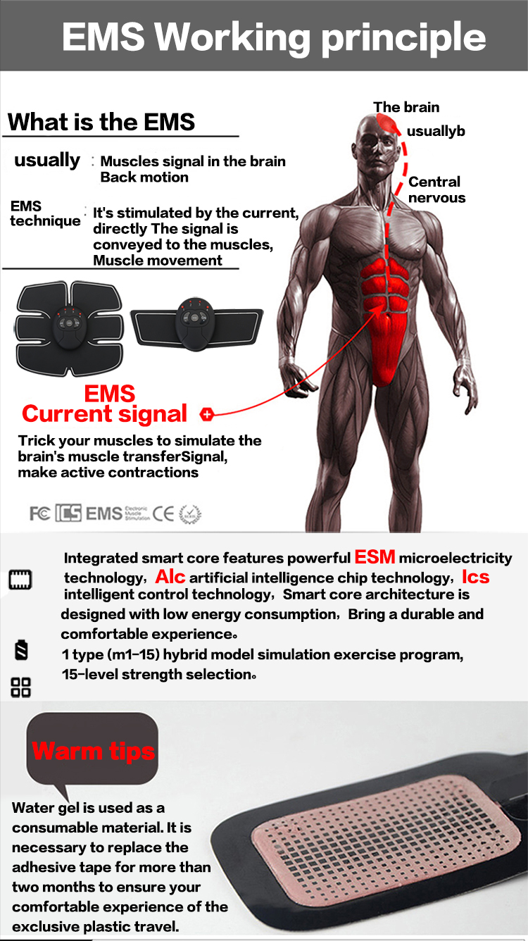 Abdominal machine electric muscle stimulator ABS & Weight loss ems Trainer 5
