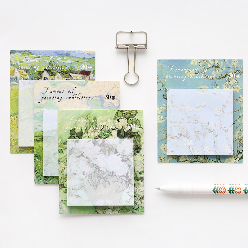 30 Sheets/set Decoration Colorful Sticky Notes 5 Sets Memo Pad N Times Notepad Notice Stickers School Stationery Office Supplies