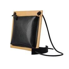 Mode Kleinen Schwarzen Leder Taschen Für Frauen Umhängetasche Designer Platz Damen Kupplung 2 farben Bolsa De Couro Genuino Feminino