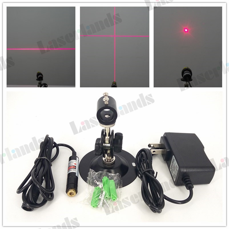 12x55mm Focusable 5mW 10mW 50mW 650nm Red Dot Point Line Generator Cross Hair Laser Diode Module Glass Lens Locater
