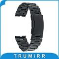 22mm de acero inoxidable correa de reloj de metal smart watch band pulsera de la correa para motorola moto 360 1 1st gen 2014 negro plata
