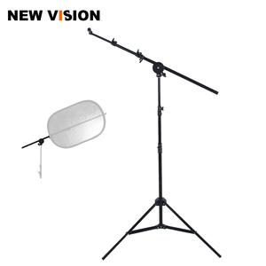 """Image 1 - Studio Photo Holder Bracket Swivel Head Reflector Disc Arm Support 26"""" 67"""" with 190cm Light Stand"""