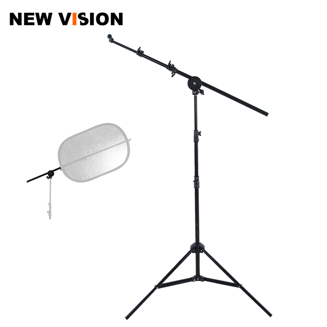 """Studio Photo Holder Bracket Swivel Head Reflector Disc Arm Support 26"""" 67"""" with 190cm Light Stand"""