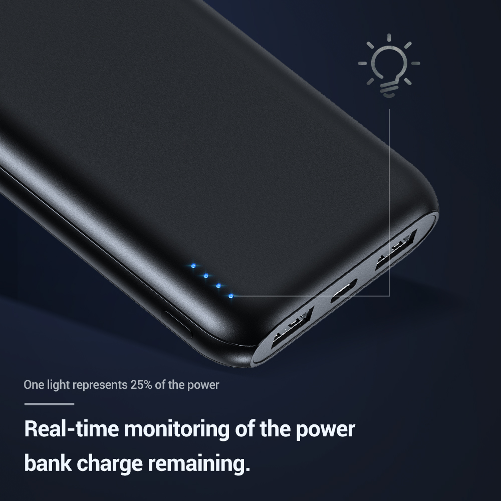 TOPK 10000mAh Power Bank 18W 3.0 Type C PD Fast Charging Power bank External Battery Charger for Mobile Phones 3