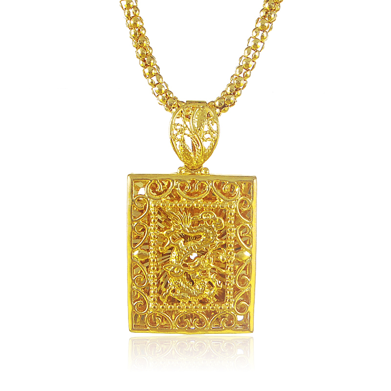 Yellow gold color square dragon pendant with 4mm round chain yellow gold color square dragon pendant with 4mm round chain necklace for men fashion male jewelry gifts choker collar bijoux in pendant necklaces from aloadofball Image collections