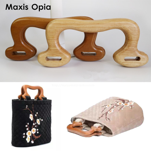 two Pairs Four pieces 19.8X11.5cm Solid Wood China Online Shop Cheap  Factory Supplier Wood Purse Hanger Handle Frame Bag Parts b6c169210452a