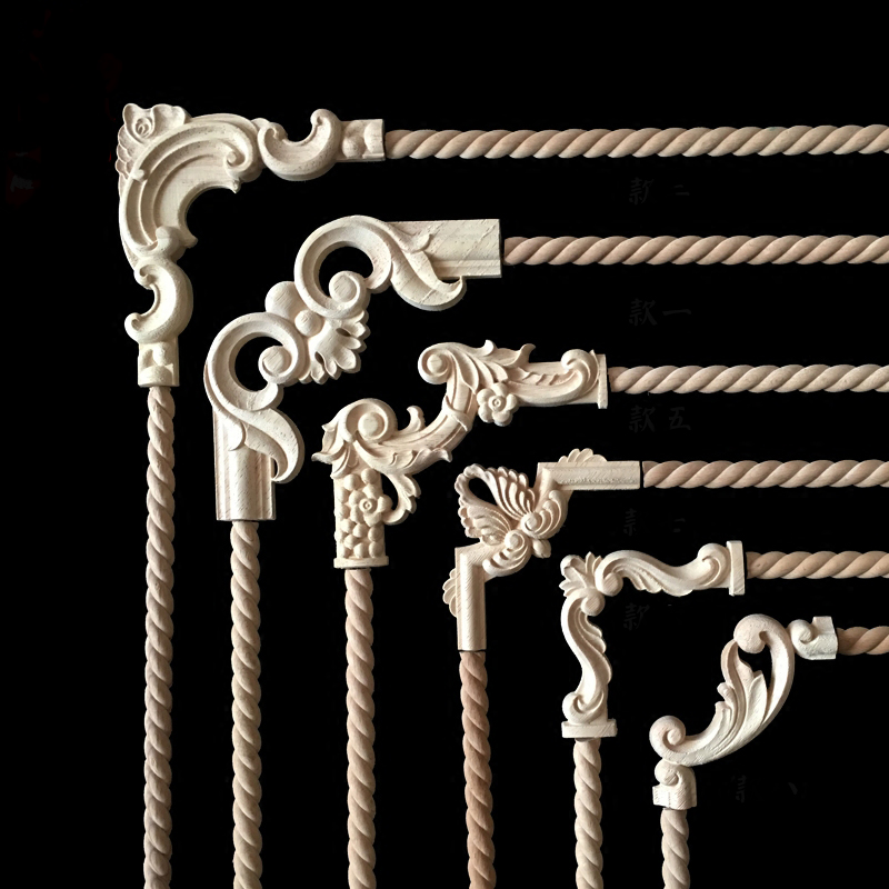 Vintage Unpainted Wood Carved Decal Corner Applique Frame For Home Furniture  Wall Cabinet Door Decorative Wooden Miniature Craft In Hair Clips U0026 Pins  From ...