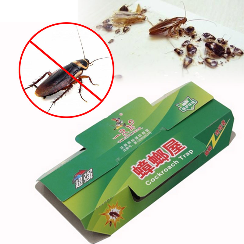 5PCS/Lot Cockroach Killer Bait Sticky Cockroach Traps Environmental Non-toxic House Gintrap Pest Mosquito Repeller Insect Reject