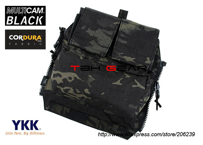 TMC Pouch Zipper Panel Pouch Multicam Black Tactical Zip Ammo Pouch Back Panel+Free shipping(SKU12050341) advanced rectal touch examination simulator rectal tumor examination model