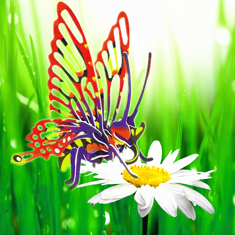 MAGICAL SCIENCE  Funny Biological Science Equipment Cognitive Butterfly Structure Shape Paper Assembled Insect Technology