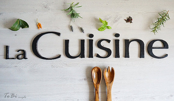 Wall decoration signage la cuisine sign french kitchen for Kitchen letters decoration