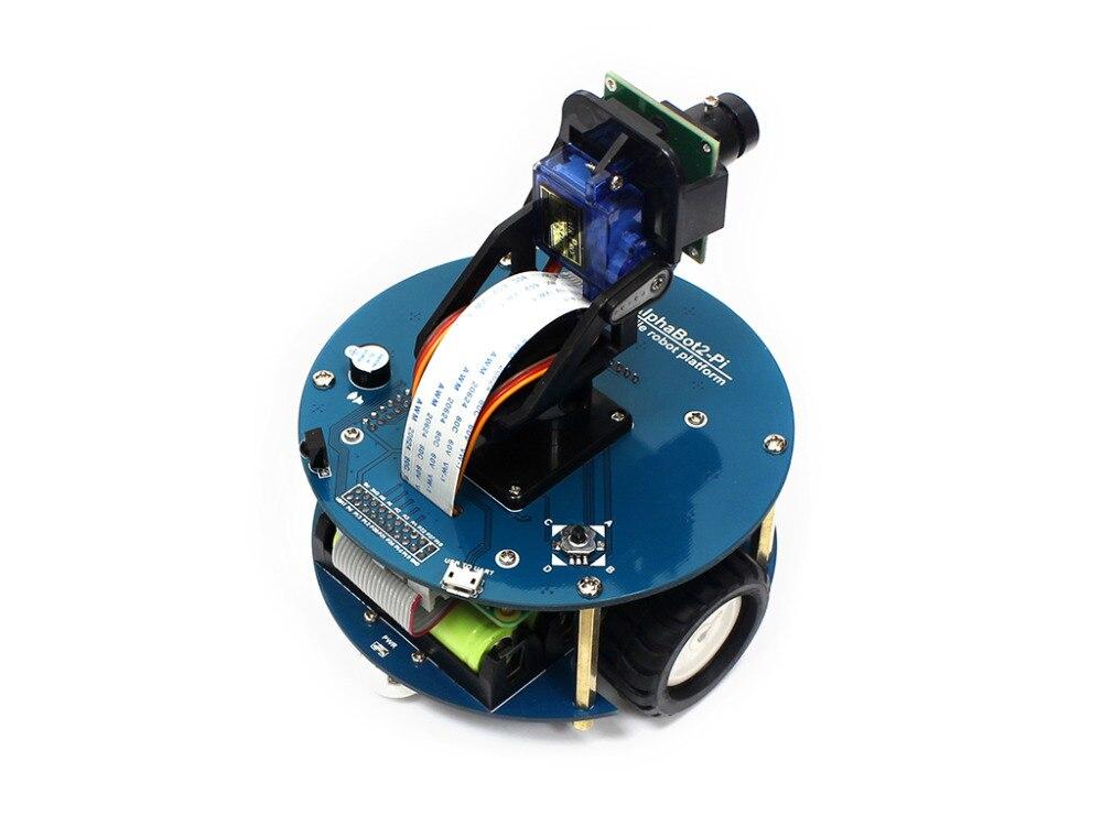 Raspberry Pi 3 Model B умный автомобиль аксессуар пакет AlphaBot2 робот строительный комплект с камерой 16 Гб Micro SD карта ИК пульт дистанционного управления-in Доски для показов from Компьютер и офис