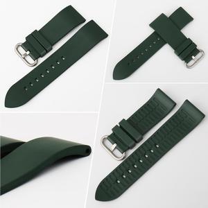 Image 2 - MAIKES Qualität Uhr Gummiband Uhr Band Uhr Zubehör Sport Armband 20mm 22mm 24mm Für Omega Huawei GT Uhr
