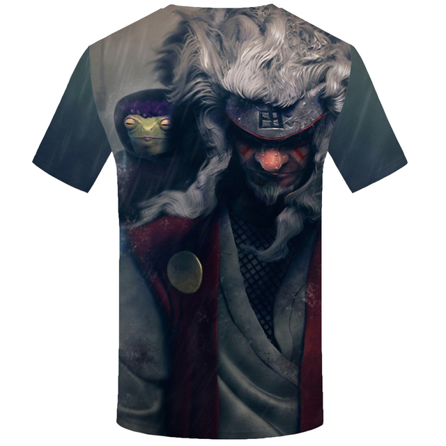 KYKU Naruto T Shirt Men Anime Clothes City Character Tshirt Japan Style Space Print T-shirt Funny T Shirts Cool Mens Clothing