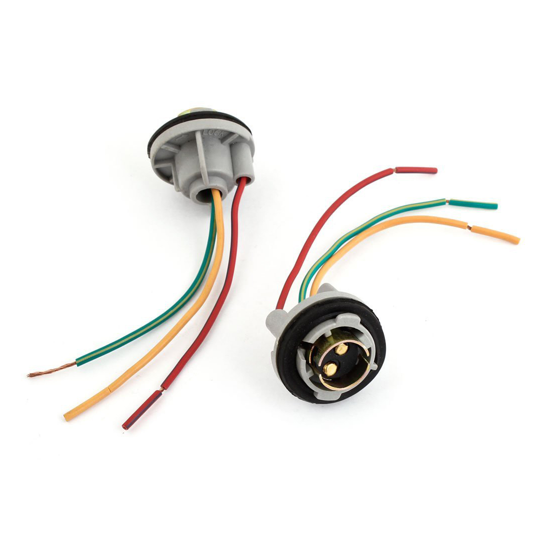 1157 Signal Brake Light Bulb Socket Connector Wire Harness Plug 2 ...