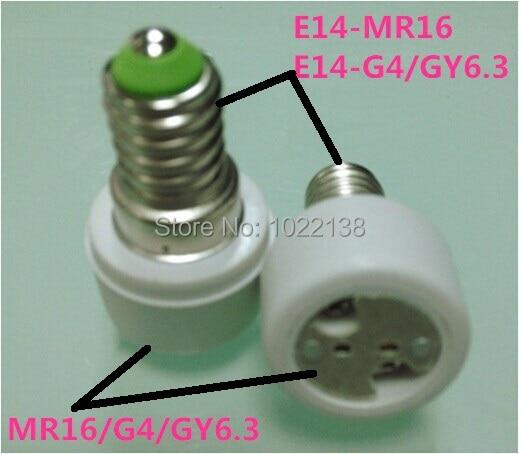 30 pièces E14 à MR16 LED adaptateur de douille E14 à G4 LED base dampoule E14 à GY6.3 support de lampe convertisseur de E27-MR16 PC & céramique pour CFL