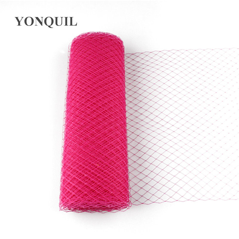 Ярко-розовый или несколько цветов 25 см клетка Veiling Дамская Шляпка с вуалью DIY аксессуары для волос чародей veils10yard/лот