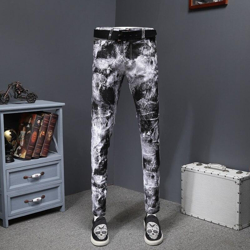 Mens Skinny Jeans Slim Fit Mens Stretch Denim Pants Trousers Vaqueros Hombre Skinny Designer Jeans Erkek Kot Pantolon