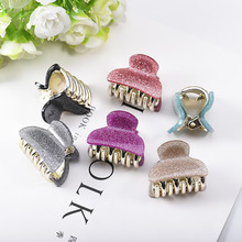 1 Pairs New Fashion Baby Girls Acrylic Mini Hair Claws Clips Clamps Cute Small Solid Color Pin Crab Accessories