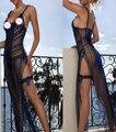 Gratuito Dentro de Un Día de Las Ventas Calientes Más El Tamaño Elástico Vestido de Lencería Sexy Ropa de Dormir Sml XL 2XL 3XL B9046