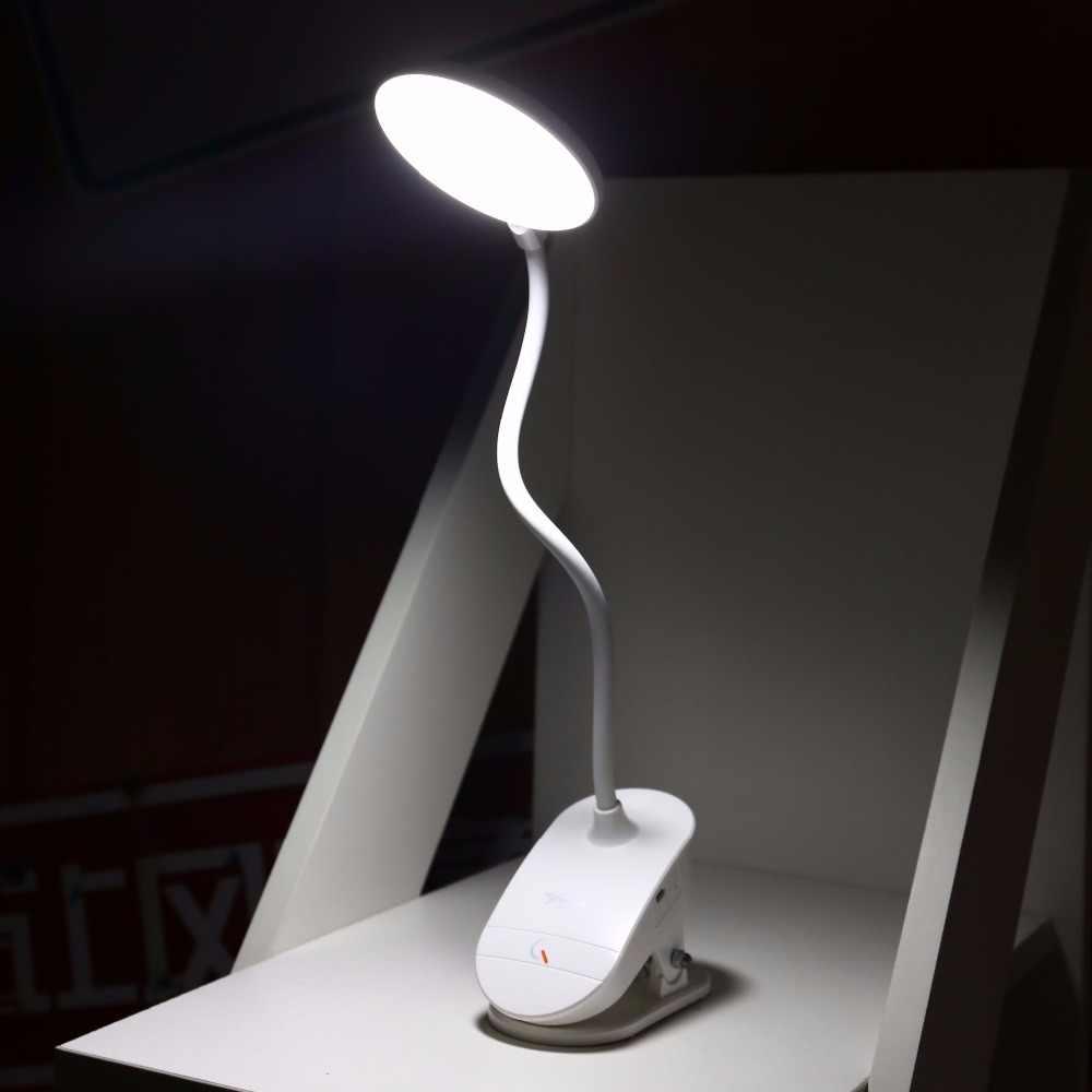 STANDARD YAGE T101 3 Chế Độ Clip Bàn Đèn Cảm Ứng On/off Chuyển Đổi 7000 K Đọc Sách Bảo Vệ Mắt Mờ 18650 Có Thể Sạc Lại USB Led Bảng Đèn