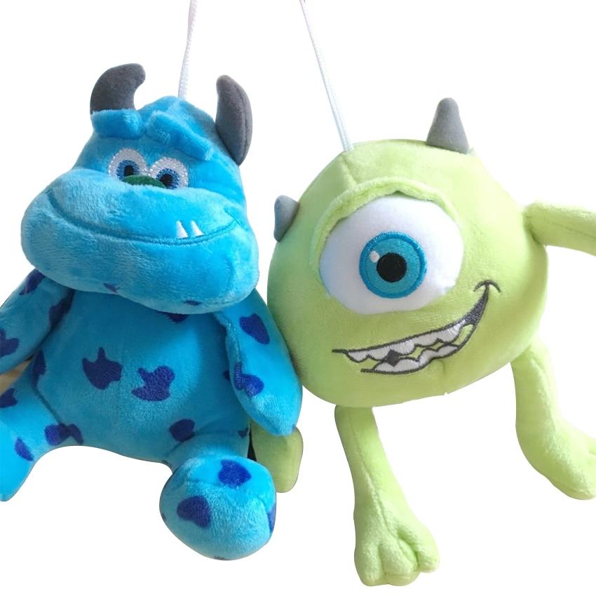 2pcs/lot 20cm Monsters Inc Monsters University Monster Mike Wazowski & James P. Sullivan plush toy for kids gift monsters inc