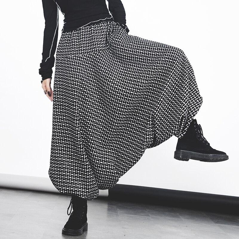 Casual De A Largos Mujeres Salvaje Cruzados Invierno Elástica 2017 Suelta Lana Señoras Pantalones Superaen Black Cuadros Nuevas Moda Cintura TqZIaq8