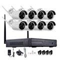 720 P 960 P 1080 P NVR kits 8CH HD Inalámbrico WiFi bala Sistema de Vigilancia de vídeo CCTV Cámara de Seguridad Inicio Cámara IP IR-CUT Kit