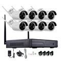 720P 960P 1080P 8CH HD Wireless NVR kits WiFi bullet IP Camera IR-CUT CCTV Camera Home Security System video Surveillance Kit