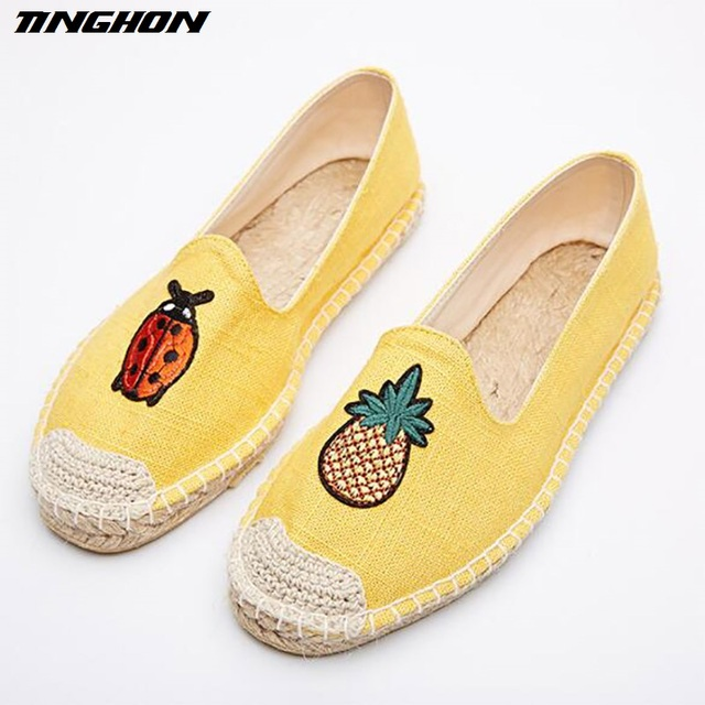 Fashion summer Espadrilles all colors sizes casual women flat tiger embroidery fabric rope insole and rubber sole loafer pick a best for sale purchase new cheap price best sale sale online best sale for sale 1sUwfM0