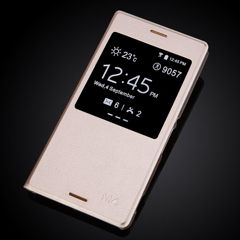 Aqua m4 case ultra delgado teléfono de cuero de lujo para sony xperia m4 aqua e2