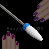 1 PC Chama Forma Cerâmica Cuidados de Beleza Da Arte Do Prego Manicure Pedicure Arquivo Broca para Elétrica Micromotor Polimento Branco Médio