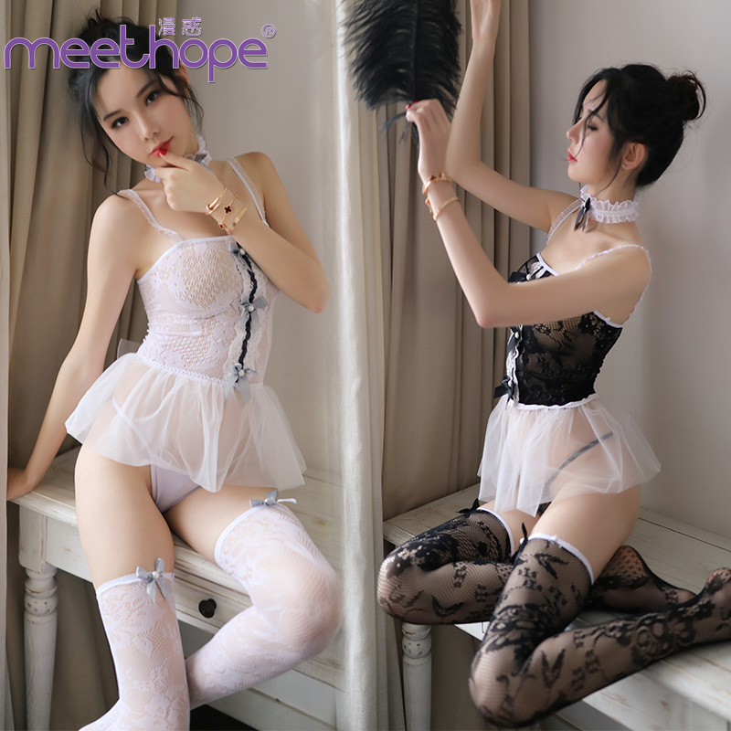 <font><b>Sexy</b></font> <font><b>lingerie</b></font> <font><b>sexy</b></font> hollow black stockings <font><b>sexy</b></font> lace dress nightclub cute maid wear tenue <font><b>sexy</b></font> <font><b>femme</b></font> <font><b>erotique</b></font> image