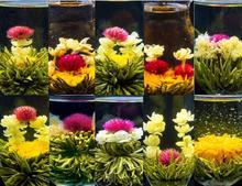 12tea bolas del Chino blooming flower tea, té artístico de China, paquete de vacío