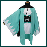 Women Japanese Traditional Green Kimono With Obi Halloween Lady Cosplay Costume Anime Samurai Clothing Warrior Haori S XL