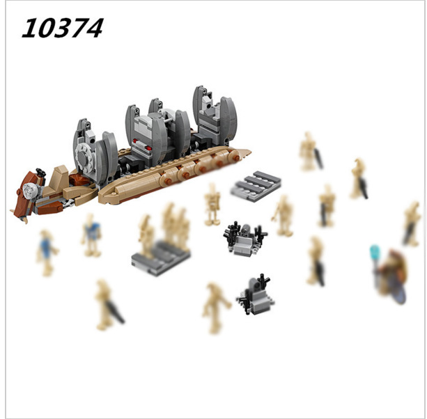 Bela 10374 Star Wars 565pcs Battle Droid Troop Carrier Spaceship model Building Blocks bricks compatible legoes 75086 DIY Toys bela 10374 star wars 7 battle droid troop carrier 565pcs building block educational toys for children compatible legoe