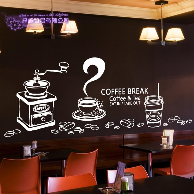 Coffee Sticker Break Decal Cafe Poster Vinyl Art Wall ...