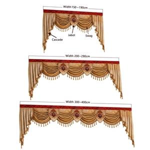 Image 5 - Роскошные занавески на заказ, используемые для штор сверху (Купите балдахин/не включая тканевые занавески и тюль)