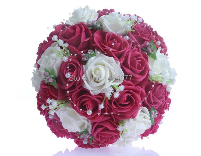 Fashion The Most Beautiful Wedding Bridal Bride Bouquet Rose&Ivory ...