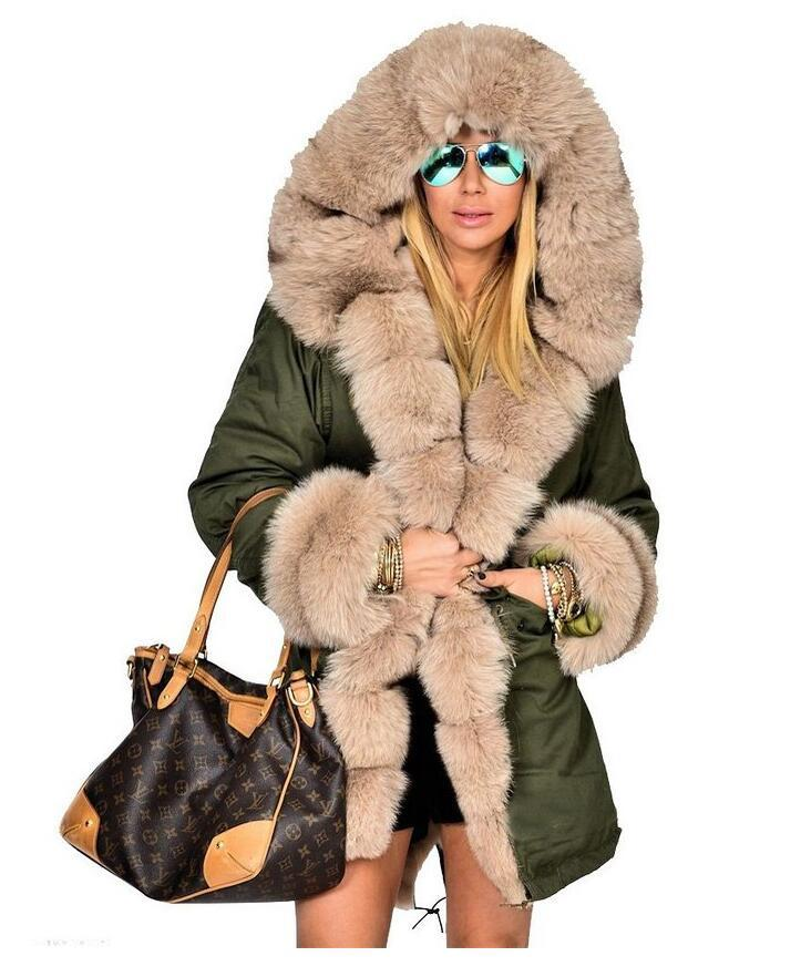 Womens Winter Jackets And Coats Rushed Polyester Solid The New 2016 Heavy Hair Warm Cotton padded