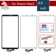 10pcs/lot TouchScreen For Xiaomi Max3 Mi Max 3 Max3 MiMax3 Touch Screen Digitizer Touch Panel Sensor Front Glass Replacement 10pcs for xiaomi 3 mi 3 m3 mi3 new black touch screen digitizer glass panel replacement free shipping tracking no