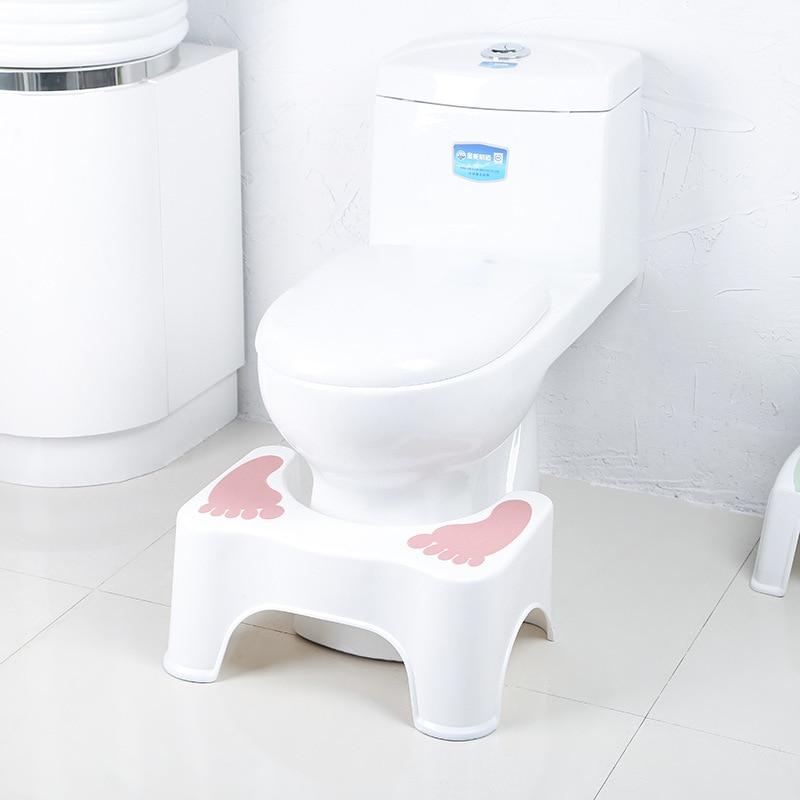 Toilet Cushion Footstool Children's Stool Household Plastic Padded Non-slip Bathroom Stool  Step Stool For Kids