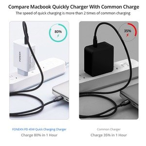 Image 3 - Type C 45W Pd Usb Charger Laptop Snelle Lading Muur Adapter 15V 3A Type C Vouw Ons plug Mobiele Telefoon Draagbare Reislader