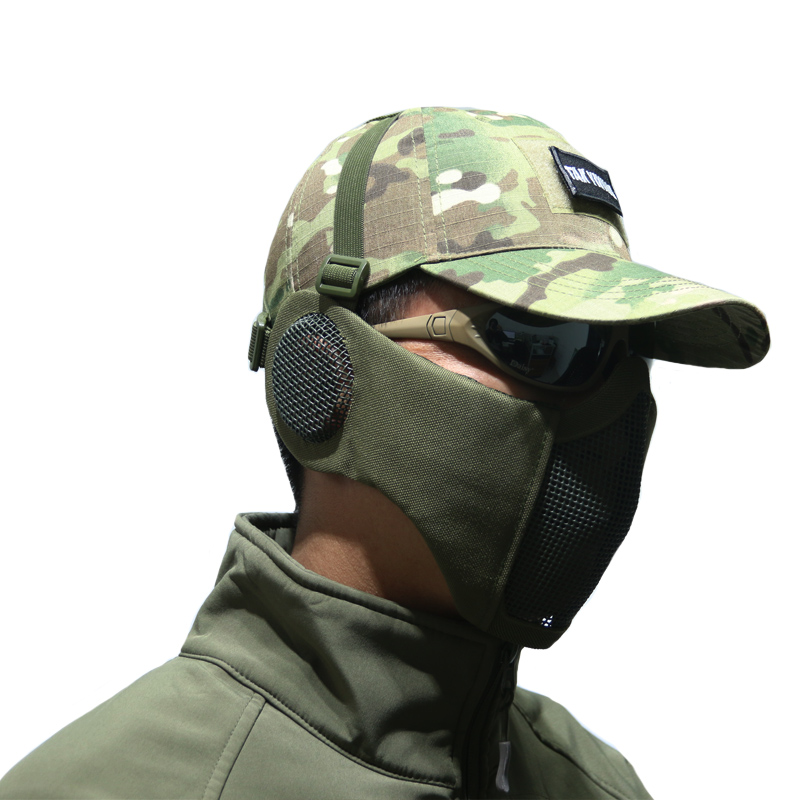Tak Yiying Tactique Pliable Mesh Masque Avec Oreille Protection Pour