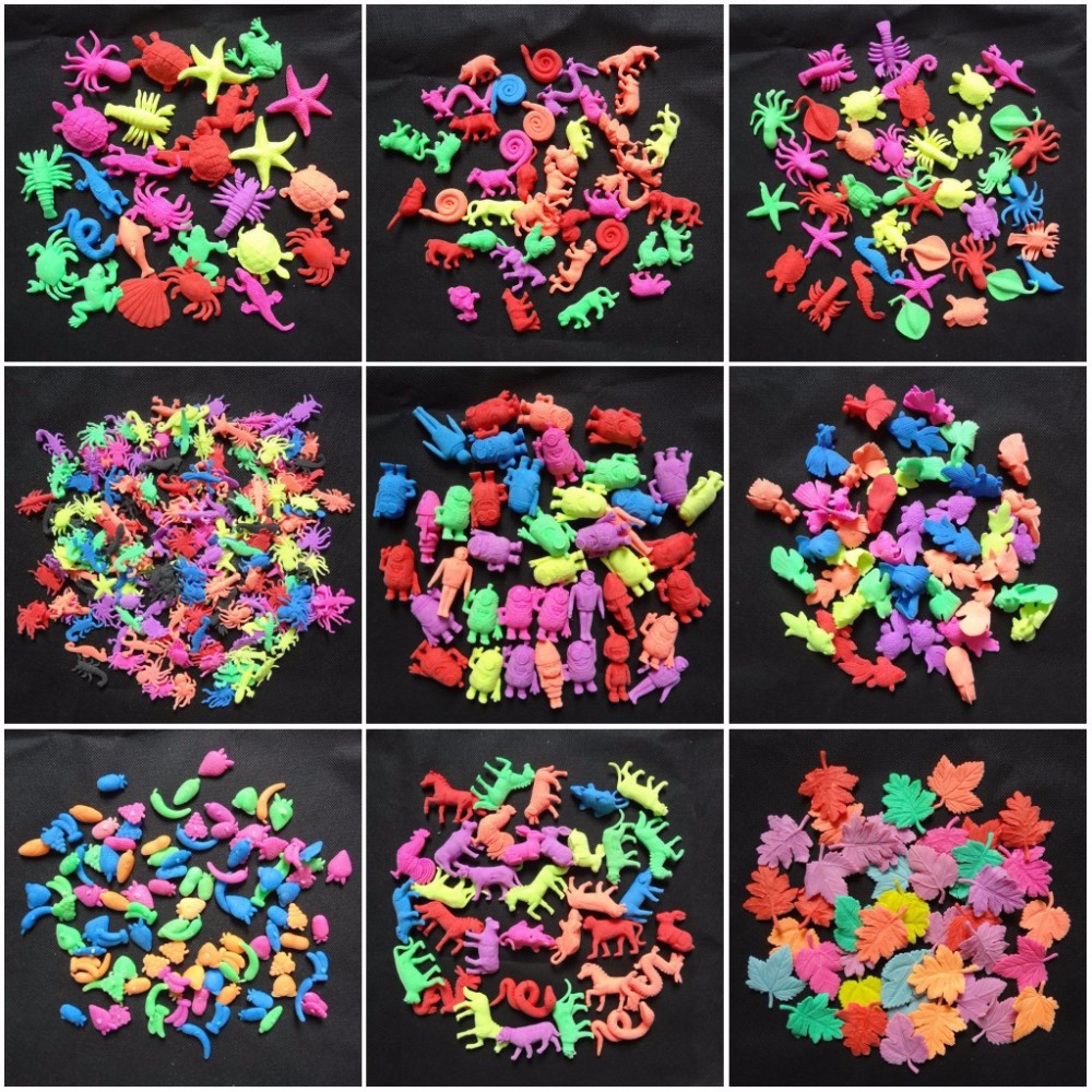 50g / लॉट Colorflul सागर पशु गुलाब तितली आकार ईवा खिलौने बच्चों के अनुकूल खिलौने बढ़ते एक्वैरियम घर की सजावट SJ-EVA
