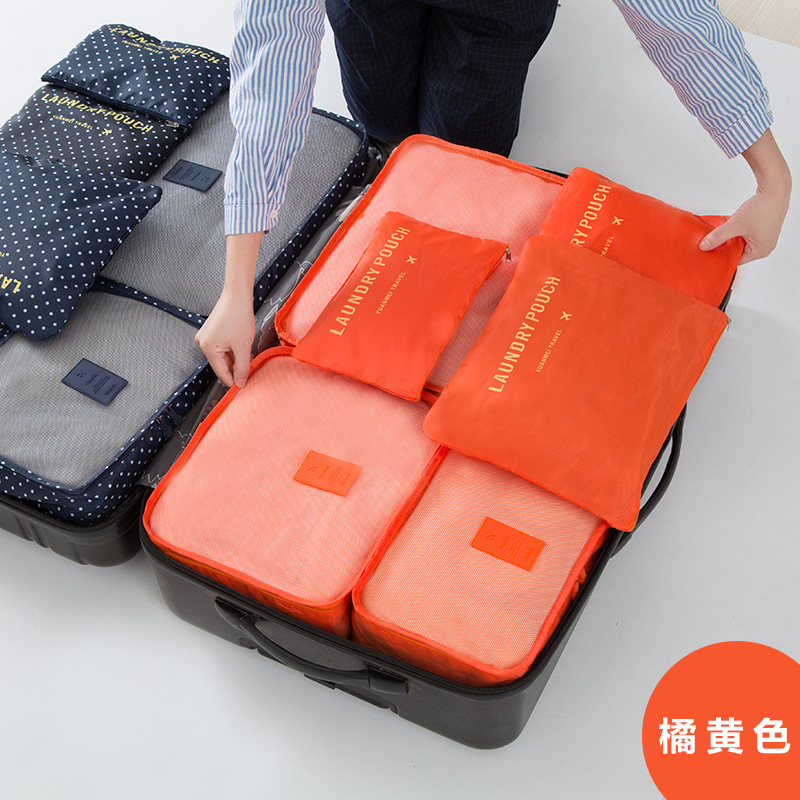 1cfcc90cd753 6 in 1 travel use Suitcase organizer sets Storage bags waterproof luggage  sorting bags 6 pieces per set cosmetic 10 colors
